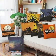 beautify your autumn living room decoration with halloween throw