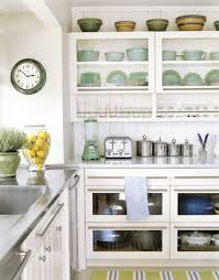 How To Have Open Shelving In Your Kitchen Without Daily Staging - Kitchen shelves and cabinets