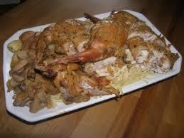 cuisiner lapin entier lapin rôti à la moutarde la recette du dredi