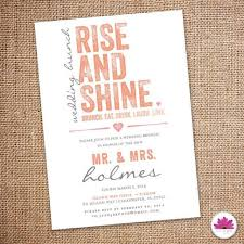brunch invites rise and shine wedding brunch invitation 5 x 7 digital file