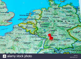Germany Map Europe by Stuttgart Germany Pinned On A Map Of Europe Stock Photo Royalty