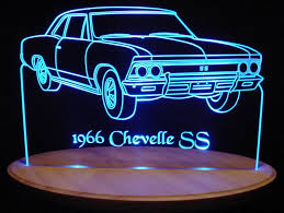 custom light up signs 1966 chevelle ss acrylic lighted sign 66 acrylic light up led