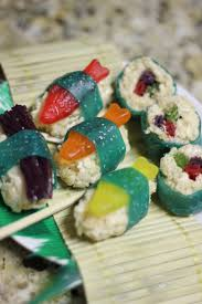 candy sushi recipe candy sushi swedish fish and fruit roll