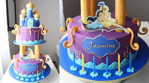 aladdin and jasmine cake tutorial youtube