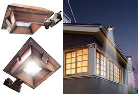 ecothink solar copper gutter mount light with 6 led bulbs yugster