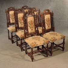 antique oak chairs set 6 kitchen dining quality victorian jacobean