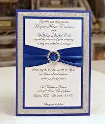 royal blue wedding invitations royal blue and silver wedding invitations cloveranddot