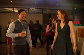randall park and vanessa bayer in office christmas party 26