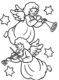 angel free coloring pages christmas christmas coloring pages