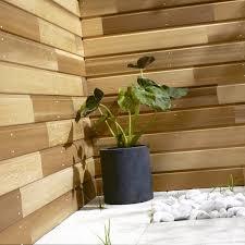parement bois mural clin pour bardage red cedar naturel isb elan 2 25 m leroy merlin