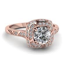 Wedding Rings Rose Gold by 14k Rose Gold White Diamond Engagement Rings Fascinating Diamonds
