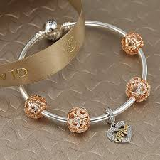 gold hearts bracelet images Glamulet clear crystal rose gold hearts charms 925 sterling silver jpg