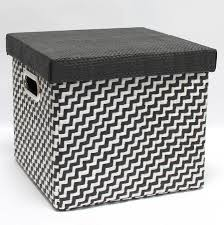 Black Storage Boxes With Lids