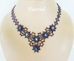 bead necklace patterns images Mist beaded necklace beading tutorial beadweaving pattern seed jpg