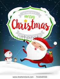 merry text santa claus stock vector 491812768