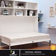 Space Saving Queen Bed Frame Folding Wooden Space Save Queen Size Elegant Vertical Sofa Bed