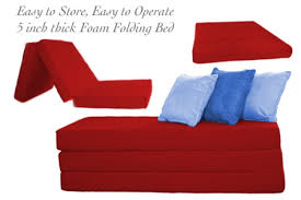 Folding Futon Bed Folding Foam Bed 5inch Tri Folding The Futon Shop