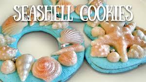 seashell shaped cookies marzipan seashell cookies tutorial