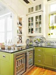 green base cabinets in kitchen avocado green base cabinets bhg via remodelholic laurel home