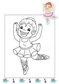 ballerina coloring funnycrafts