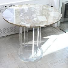 Marble Patio Table Modernist Marble Top Patio Table With Acrylic Base Ebth