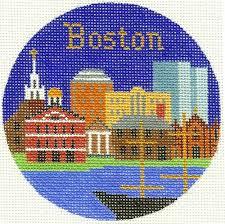 boston ornament silver needle needlepoint