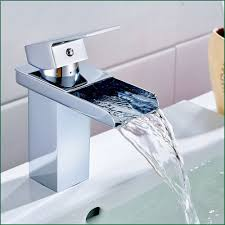luxury bathroom faucets waterfall chrome polish basin taps and