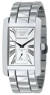 armani stainless steel bracelet images Emporio armani classics series stainless steel gents square face jpg
