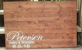 personalized guestbook wood wedding guestbook rustic wedding guest book