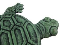 amazon com iron verdigris garden turtle stepping stone outdoor
