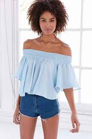 light blue off the shoulder top urbanoutfitters com awesome stuff for you your space style