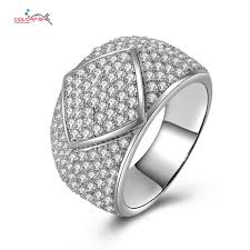 small fashion rings images Micro pave 206 small stone sterlingsilver men 39 s ring 18k gold jpg