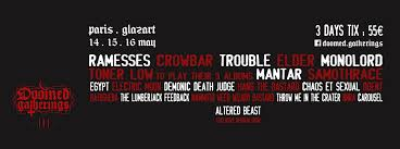 crowbar ramesses trouble and more confirmed to play third doomed