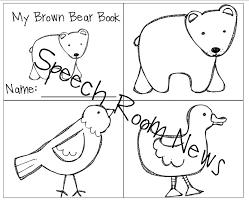 brown bear brown bear preschool book companions speech room