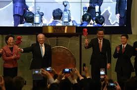 Hong Kong Shenzhen trading link off to negative start   Daily Mail     HKEX Chairman CK Chow   nd L  and Hong Kong     s Chief Executive Leung Chun