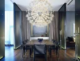 modern european dining room with bubble chandelier via thou swell