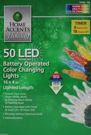 timer lights for home amazon com home accents holiday party 50 led battery operated color