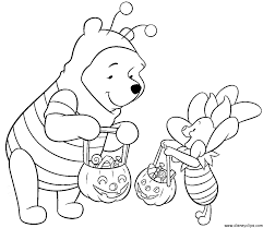 winnie pooh halloween coloring pages u2013 festival collections