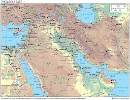 World Map Middle East by Operation Telic Reference Maps