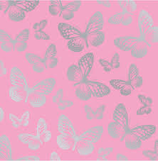 girls bedroom butterfly wallpaper in pink white teal more new with