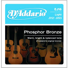 d addario ej16 phosphor bronze light acoustic guitar strings d addario ej16 phosphor bronze light acoustic guitar strings