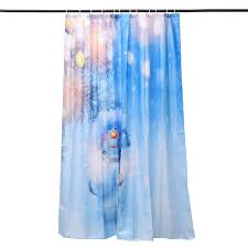 180x180cm snowman pattern waterproof polyester shower curtain
