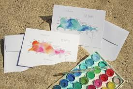 painting greeting cards in watercolor watercolor island map greeting cards us islands
