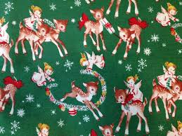 Vintage Reindeer Christmas Decorations by Retro Christmas Fabric Finally We Have This Retro Angel
