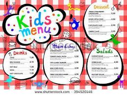 free kids menu templates free template kids menu vector download