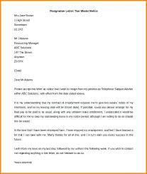 2 week notice resignation letter u2013 aimcoach me