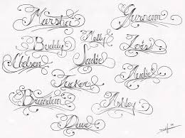 sample swirly name tattoo designs tattoomagz