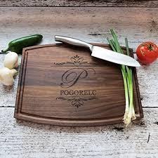 cutting board wedding gift personalized cutting board walnut maple house