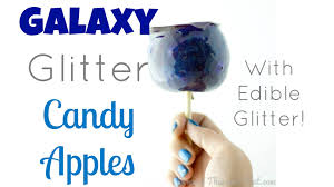 diy glitter candy apples with edible glitter galaxy candy apples