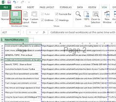 how to insert move or delete page breaks in an excel worksheet